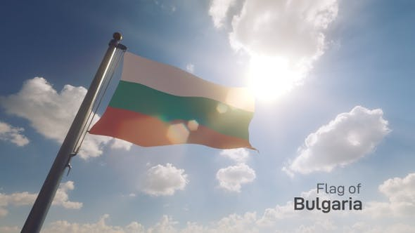 Thumbnail for Bulgaria Flag on a Flagpole V2