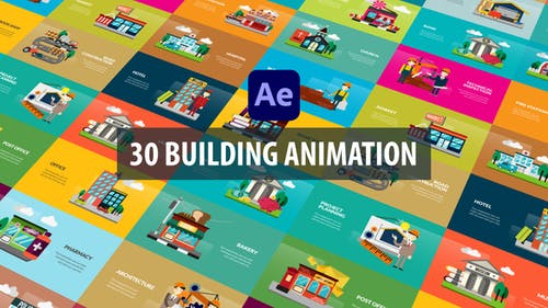 Building Animation | After Effects