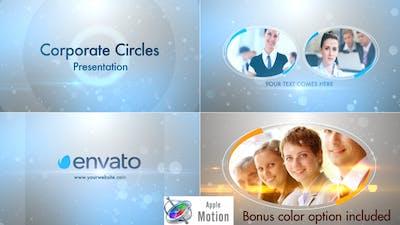 Stylish Corporate Circles Presentation - Apple Motion