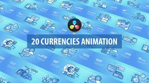 Currencies Animation | DaVinci Resolve
