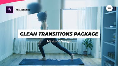 Clean Transitions Package For Premiere Pro