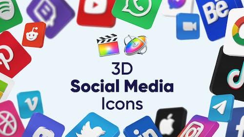 3D Social Media Icons for Final Cut Pro X & Apple Motion