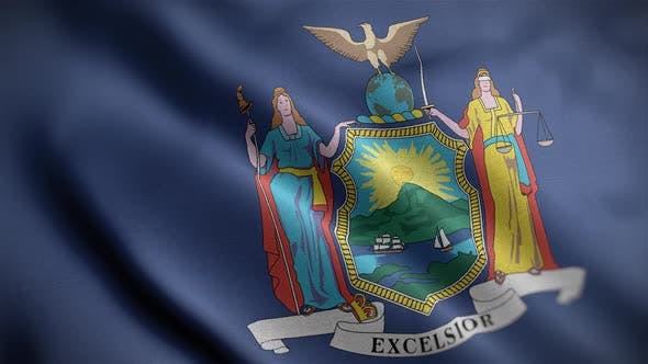 New York State Flag Close Up HD