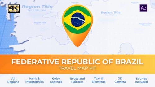 Brazil Map - Federative Republic of Brazil Travel Map