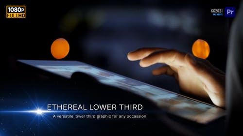 Ethereal Lower Thirds   MOGRT for Premiere Pro