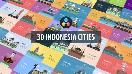 Indonesia Cities Animation | DaVinci Resolve