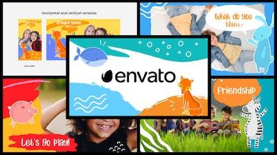 Cartoon Kids Slideshow || DaVinci Resolve