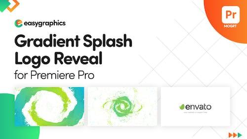 Gradient Splash Logo Reveal for Premiere Pro