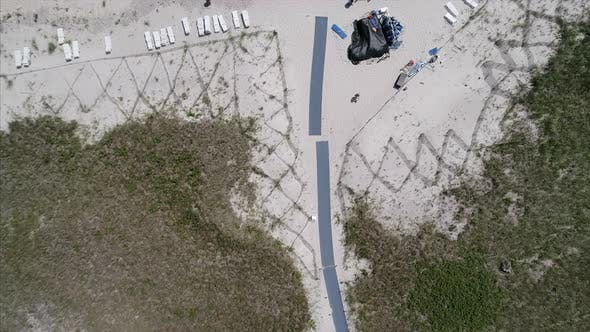 Top View of People Relaxing on the Beach in Westhampton New York