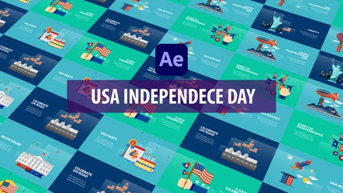 USA Independence Day Animation | After Effects