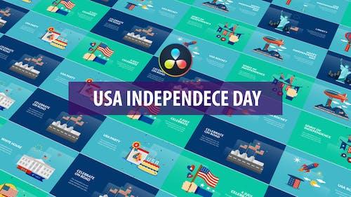 USA Independence Day Animation   DaVinci Resolve