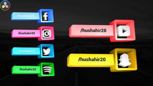 Social Media 3D Lowerthirds