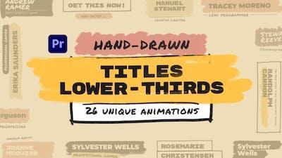 Hand Drawn Brush Titles Lower Thirds