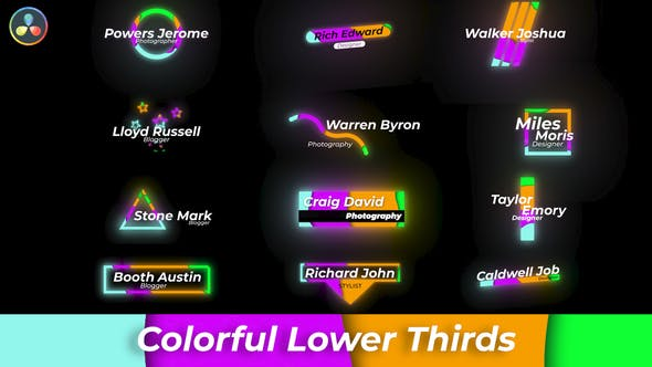 Colourful Lower Thirds