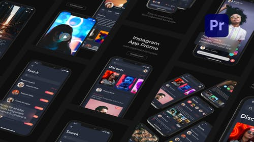 Mobile App Promo Instagram Stories for Premiere Pro