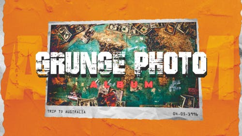 Grunge-Fotoalbum