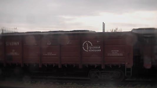 Thumbnail for Railroad Cars Slowly Pass