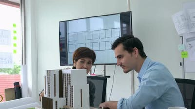 Business people working and design building