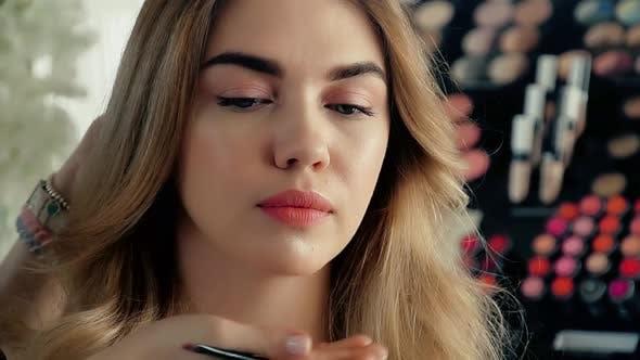 Makeup Artist After Applying Makeup