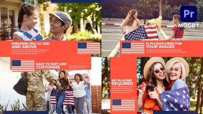 USA Patriotic Celebration Slideshow MOGRT