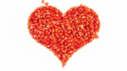 Sweet love and Valentine: Red Candies heart shape