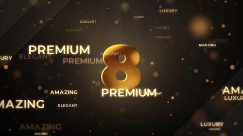 Gold Countdown Intro - Premiere Pro