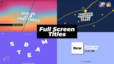 Full Screen Titles