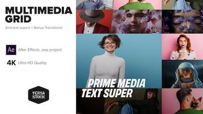 Multimedia Screens Grid Video