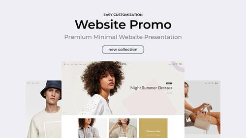 Clean Minimal Website Promo for Premiere Pro