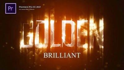 Golden Brilliant Logo Reveal