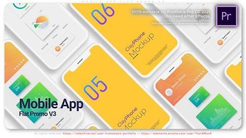 Mobile App Flat Promo V3