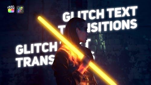 Glitch Text Transitions