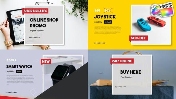 Online Shop Promo Slideshow   FCPX