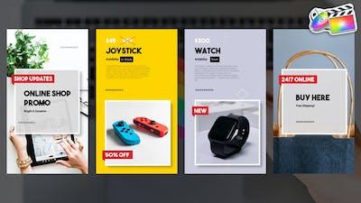 Online Shop Vertical Promo Slideshow   FCPX