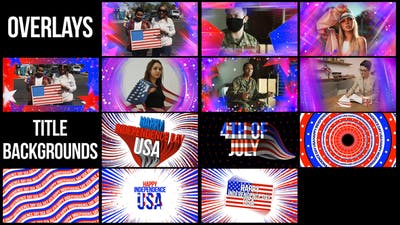 USA Title Backgrounds & Overlays