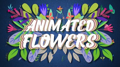 Animated Flowers || After Effects