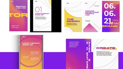Bright Abstract typography stories