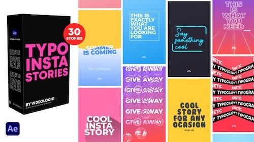Typography Instagram Stories