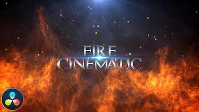 Fire Cinematic Titles - DaVinci Resolve