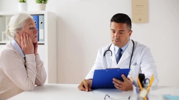 Thumbnail for Senior Woman and Doctor Meeting at Hospital