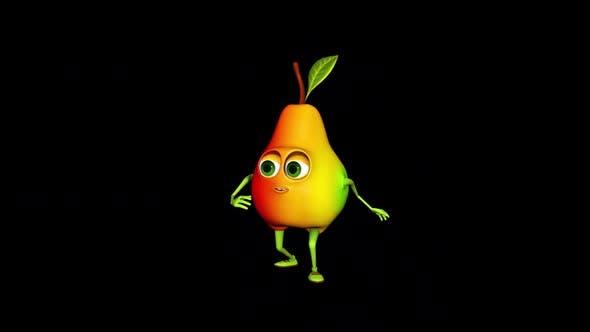 Dancing Pear Loop On Alpha Channel