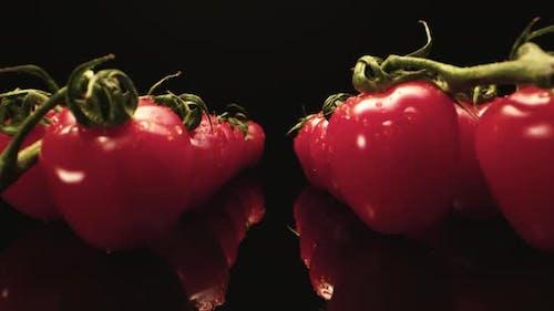 Juicy Red Cocktail Tomatoes  Macro