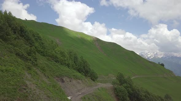 Thumbnail for Flight Above the Way Under the Green Hill of Mountain