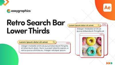 Retro Search Bar Lower Thirds