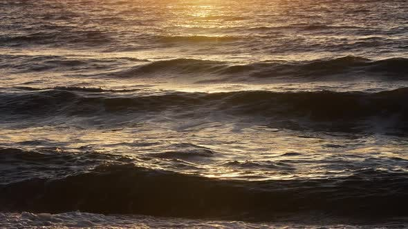 Stormy Sea at Sunset Natural Dramatic Seascape