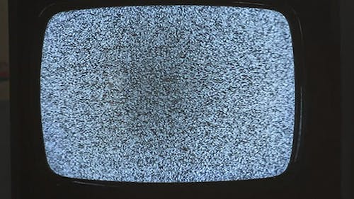 Old TV No Signal White Noise