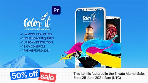 Color it Smartphone Presentation for Premiere Pro