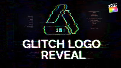 Glitch Logo Reveal | For Final Cut & Apple Motion