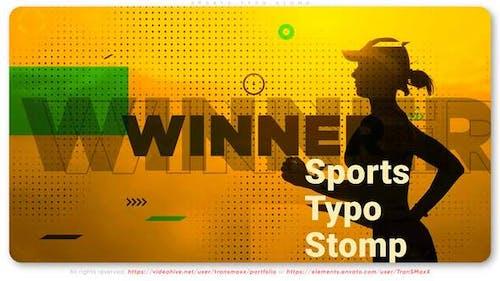 Sports Typo Stomp