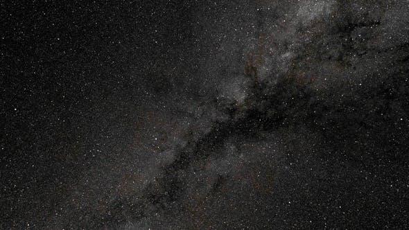 4k Milky Way. 360 Degree Rotation
